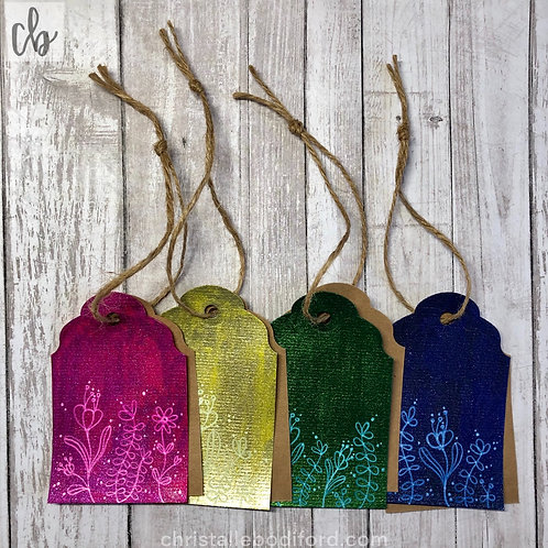 Glitter Garden Gift Tags (4-Pack)