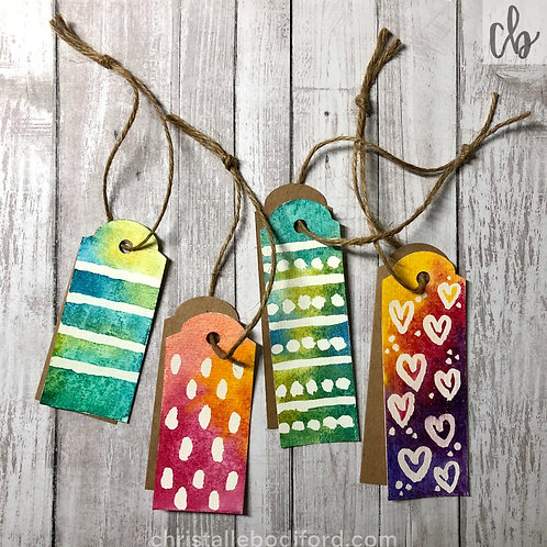 Batik Gift Tags (4-Pack)
