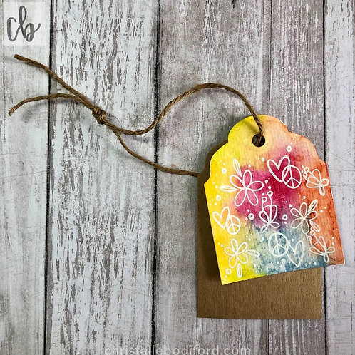 Peace And Love Gift Tag