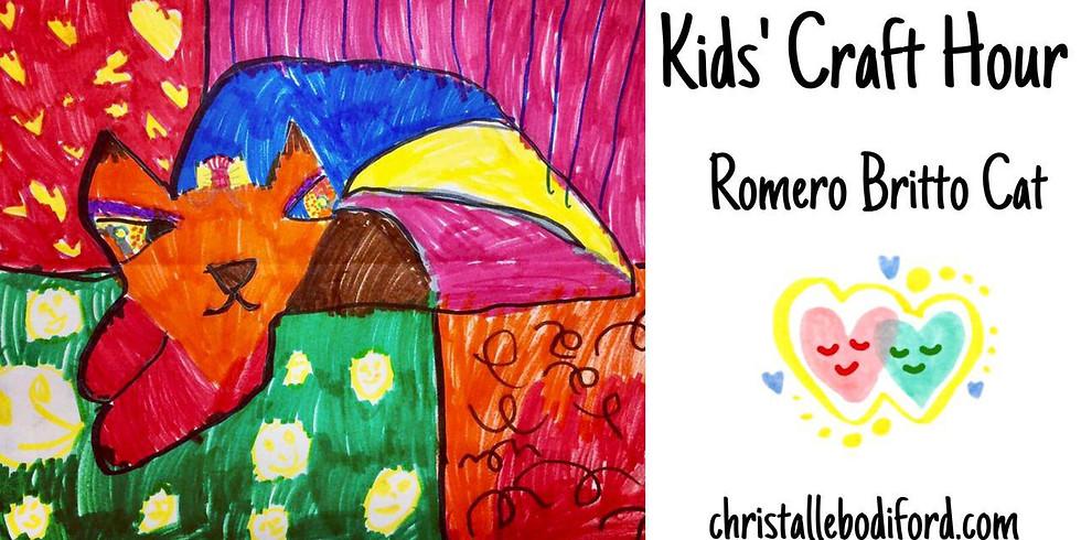 Kids Craft Hour • Romero Britto Cat