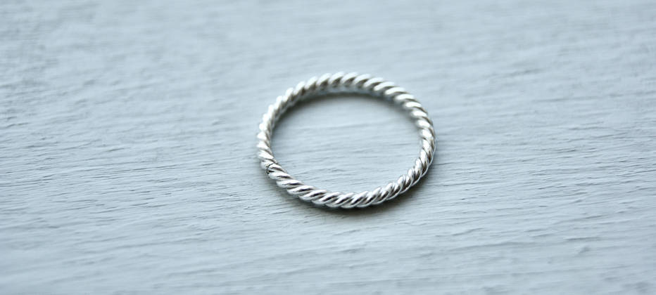 Sterling Silver twisted rope