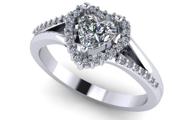 9ct Gold and Diamond CAD design