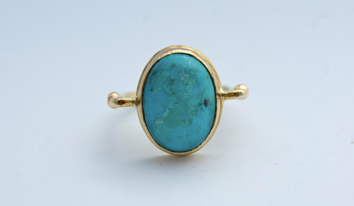 18ct Gold and turquoise