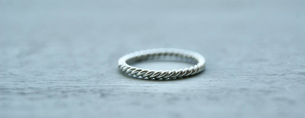 Sterling Silver twisted rope band