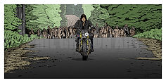 THE WALKING DEAD ZOMBIE DARYL ART PRINT POSTER