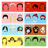 Wes Anderson Faces Set