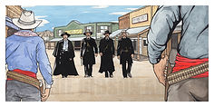 Western Tomstone Arizona Wyatt Earp Doc Holliday Art Print