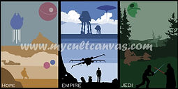 Star Wars minimalist Print Set
