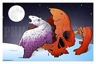 Midnight Scavenger Art Print Poster Polar Bear Artic Circle