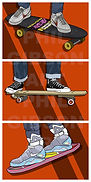 BAck To the Future Hoverboard Art Print Air Mag