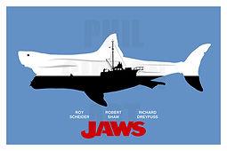 Jaws Minimalist Art Print