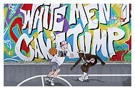 WHITE MEN CAN'T JUMP SIDNEY DEANE BILLY HOYLE NIKE COMMANDER AIR FORCE ART PRINT