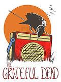 Grateful Dead Jerry Garcia Blackbird Vintage Radio Concert Poster Art Print