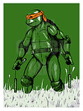 MICHELANGELO TMNT Ninja Turtles Art Print
