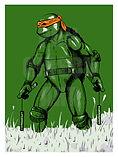 MICHELANGELO TMNT Ninja Turtles Art Print