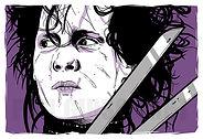 Edward Scissorhands Art Print Poster Johnny Depp Time Burton