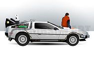BAck To The Future Delorean Art Print Poster Polar Bear Artic Circle