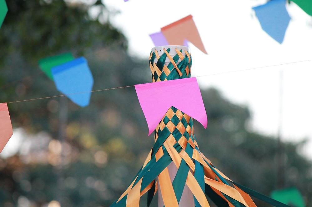 Bandeirinhas de festa junina da escola