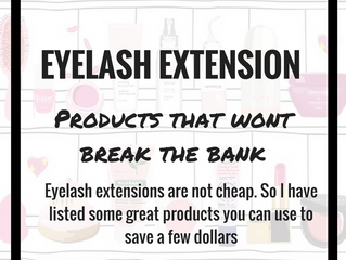 Products that are SAFE to use with eyelash extensions