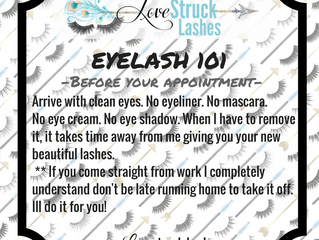 Lash 101 Before your appoinment
