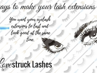 A few simple ways to make your lash extensions last longer.
