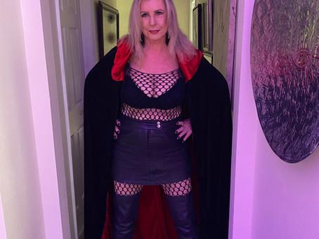 All Hallows Eve Tonight * Last of the Costumes * Full Moon Ritual Tonight * Pics