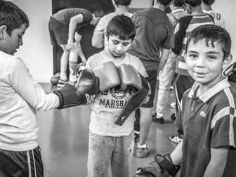 Avec Bobo, Marius et Imre à la boxe chinoise