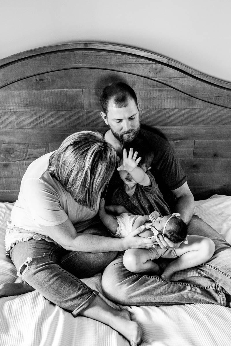 In-Home Lifestyle Newborn Session | Albemarle NC | Jennifer Ann Photography