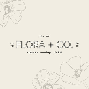 Flower farm logo branding by Heritage Creative Co.