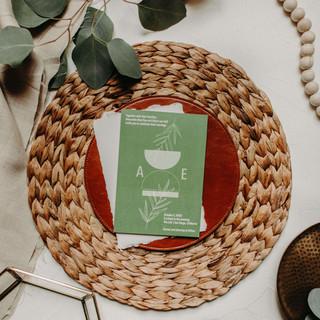 Sage Modern Invite by Heritage Creative Co.