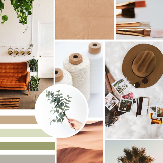 Boho Earthy Branding Mood Board by Heritage Creative Co.