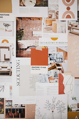 Heritage Creative Co. office mood board wall