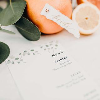 Eucalyptus Wedding Menu by Heritage Creative Co.