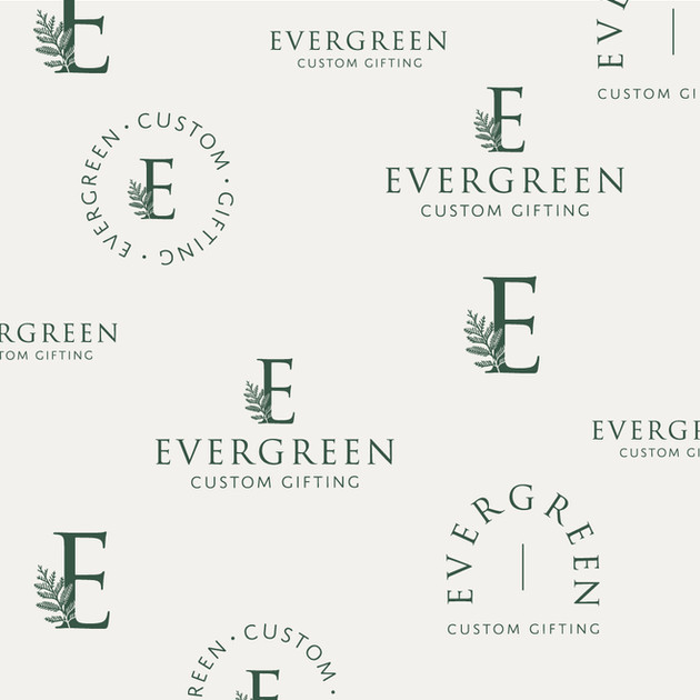 Evergreen Custom Gifting Logo Pattern by Heritage Creative Co.