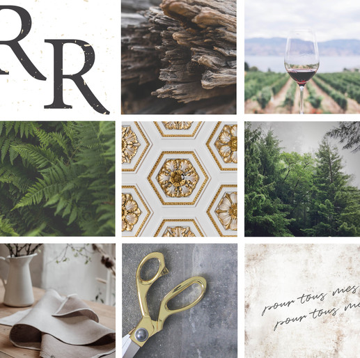 PNW Luxurious Mood Board by Heritage Creative Co.