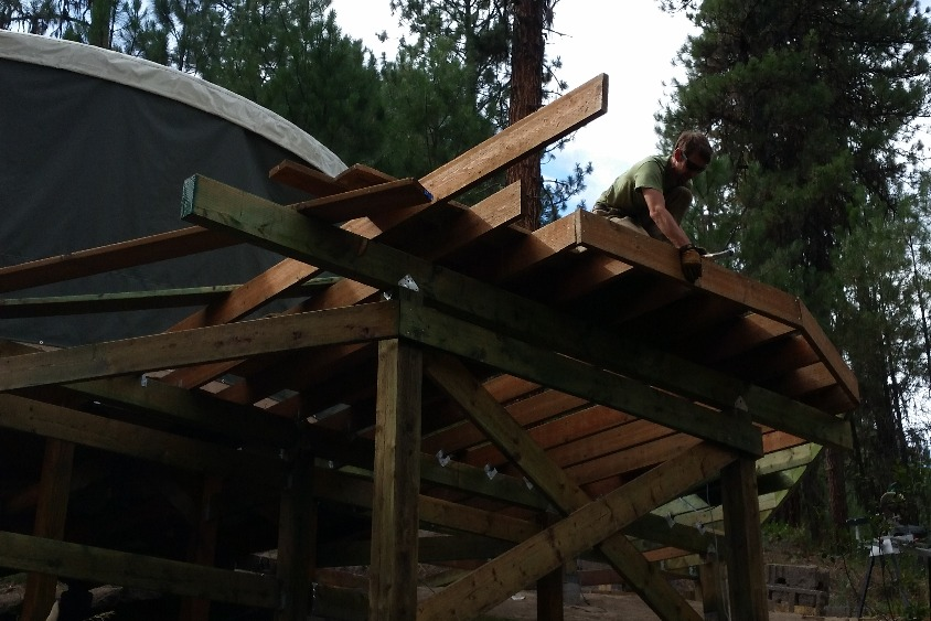 The deck structure is in