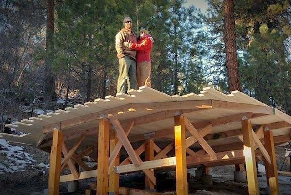 The yurt platform! (pre-circle)