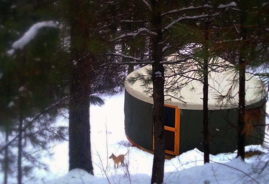 Winter yurt!