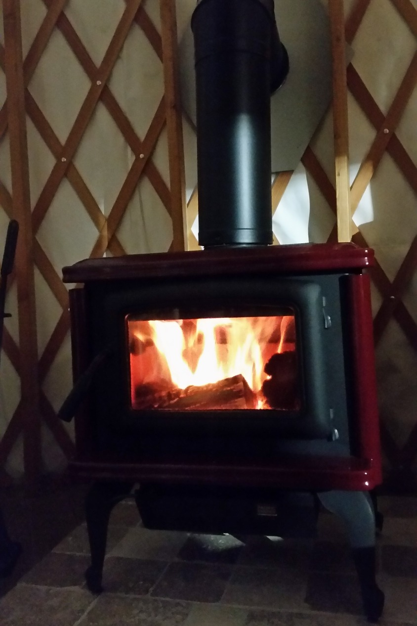 And a toasty warm stove