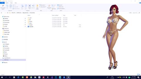 live desktop girl wallpaper