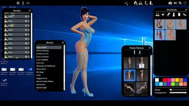 live desktop girl customization