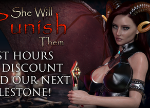 Last hours of discount and our next milestone! | Player progression, combat and adult content