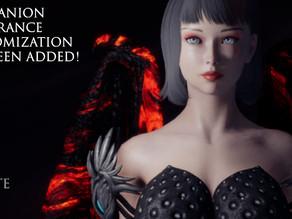 Companion Appearance Customization Has Been Added!