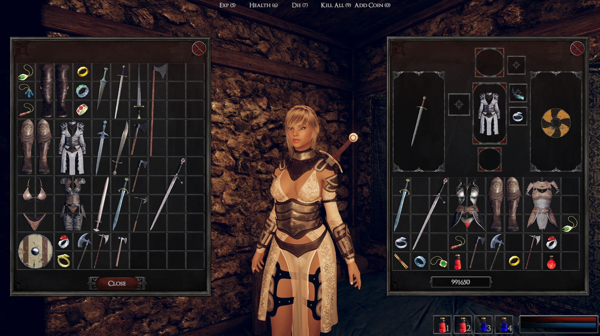 beauty and violence valkyries inventory