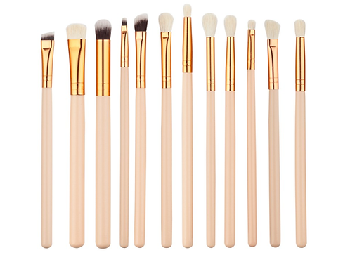PEACH MAKEUP BRUSH SET (12 pcs)