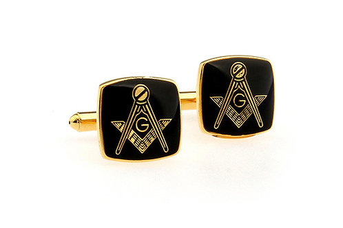MASONIC CUFFLINKS - BLACK