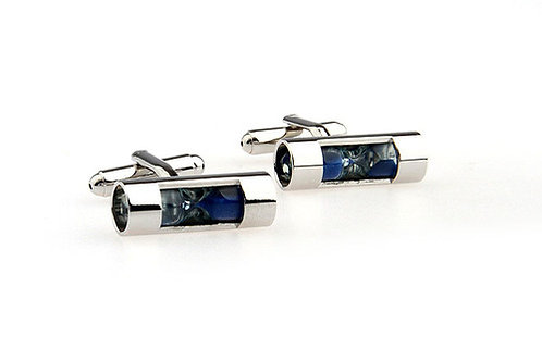 HOURGLASS CUFFLINKS - BLUE