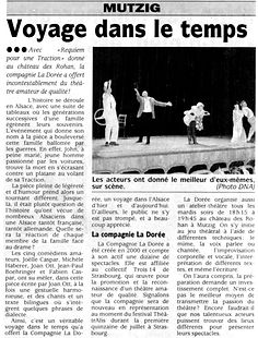 La Dorée - Requiem pour une traction - DNA Octobre 2003