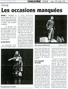 La Dorée - Les occasions manquées - DNA Mai 2004