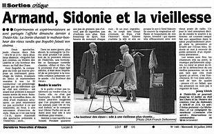 La Dorée - Au bonheur des vieux - DNA Juillet 2002